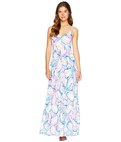 Lilly Pulitzer Melody Maxi Dress (Pink Sunset The Sunny Side) Women