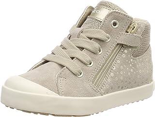 حذاء رياضي برقبة عالية للأطفال من Geox مطبوع عليه Kilwi Girl 38 بسحاب