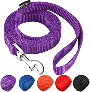 AMAGOOD 1.8M(6 FT) Puppy/Dog Leash, Strong and Durable Traditional Style Leash with Easy to Use Collar Hook,Dog Lead Great...