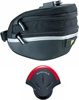 Topeak Survival Tool Wedge Pack II Bike Saddle Bag with 17-Pc. Tool Kit and RedLite II Tail Light Bundle