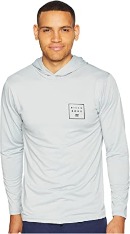 All Day Mesh Hood Loose Fit Long Sleeve