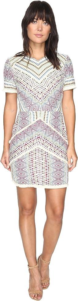 Jaylene Woven Jacquard Dress