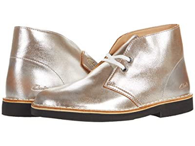 Clarks Desert Boot 2 (Silver Distressed Leather) Women