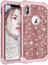 LONTECT Compatible iPhone Xs Max Case Glitter Sparkle Bling Heavy Duty Hybrid High Impact Shockproof Protective Cover Case...