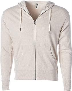 Slim Fit French Terry Lightweight Zip Up Hoodie Jacket Men or Women