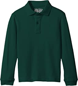 Husky Long Sleeve Pique Polo (Big Kids)