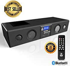 Pyle 3D Surround Bluetooth Soundbar - Sound System Bass Speakers Compatible to TV, USB, SD, FM Radio with 3.5mm AUX Input , Remote Control, For Home Theater, TV, - PSBV200BT
