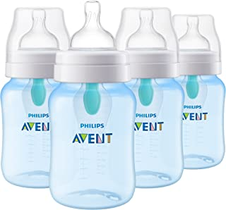 Philips Avent Anti-colic Baby Bottle with AirFree vent 9oz 4pk Blue, SCF405/44