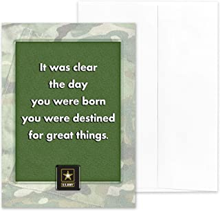 Destined - US Army Encouragement Greeting Card With Envelope - 5x7 - by 2MyHero