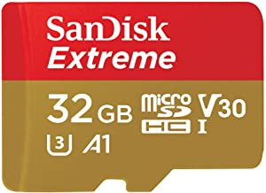 SanDisk 32GB Extreme microSDHC UHS-I Memory Card with Adapter - C10, U3, V30, 4K, A1, Micro SD - SDSQXAF-032G-GN6MA