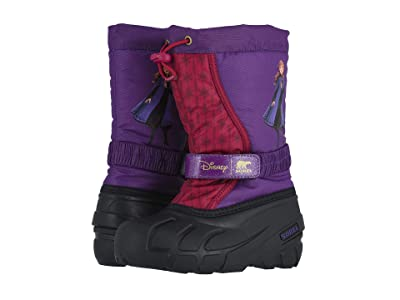 SOREL Kids Disney X Sorel Flurrytm Frozen 2tm Boot- Anna edition (Toddler/Little Kid/Big Kid) (Wild Iris) Girls Shoes