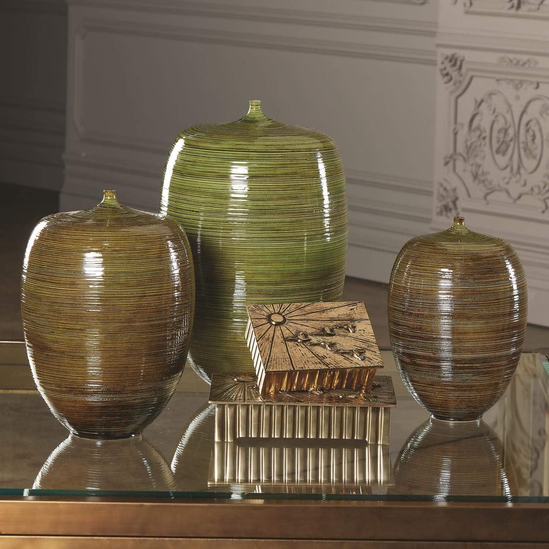 Global Views Mid Century Moderne Vase in Moosgrün, 20,20 cm ...