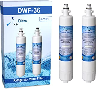 Dista - Refrigerator Water Filter Cartridge Compatible with GE RPWF (Not for RPWFE) (2-Pack)