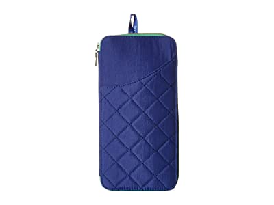 Baggallini RFID Travel Wallet (Royal Blue/Mint) Wallet Handbags