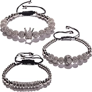 Bracelets For Men And Women - Crown Charm Bracelets For...