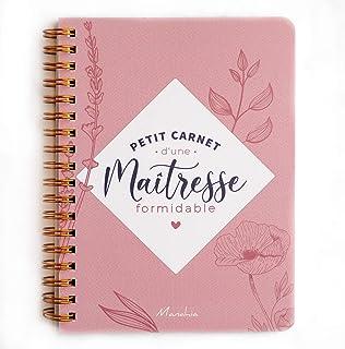 Carnet maîtresse - Petit carnet d'une maîtresse Formidable   Carnet à Spirale, 120 Pages, 16x12cm, Motif Feuilles, Cadeau ...