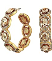 Oscar de la Renta - Runway Jeweled Hoop Earrings