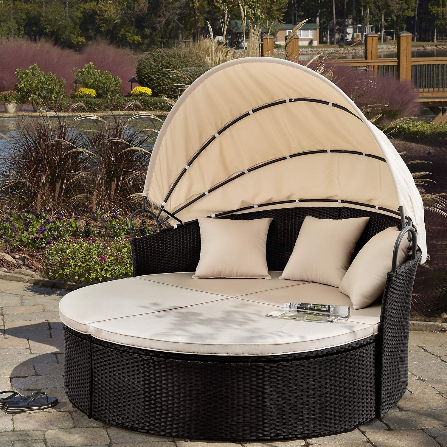 Devoko Furniture All Weather Backyard Retractable