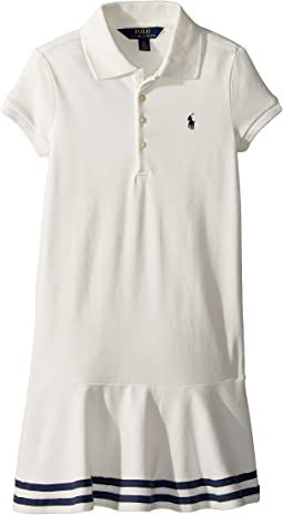 Stretch Piqué Polo Dress (Little Kids)