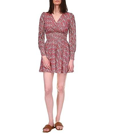 MICHAEL Michael Kors Floral V-Neck Shirred Dress