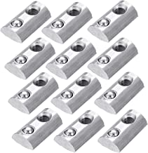 PZRT 12-Pack 2020 Series Roll-In Spring M5 T Nut, Roll Ball Elastic Nuts for 6mm T-Slot Aluminum Extrusion Profile