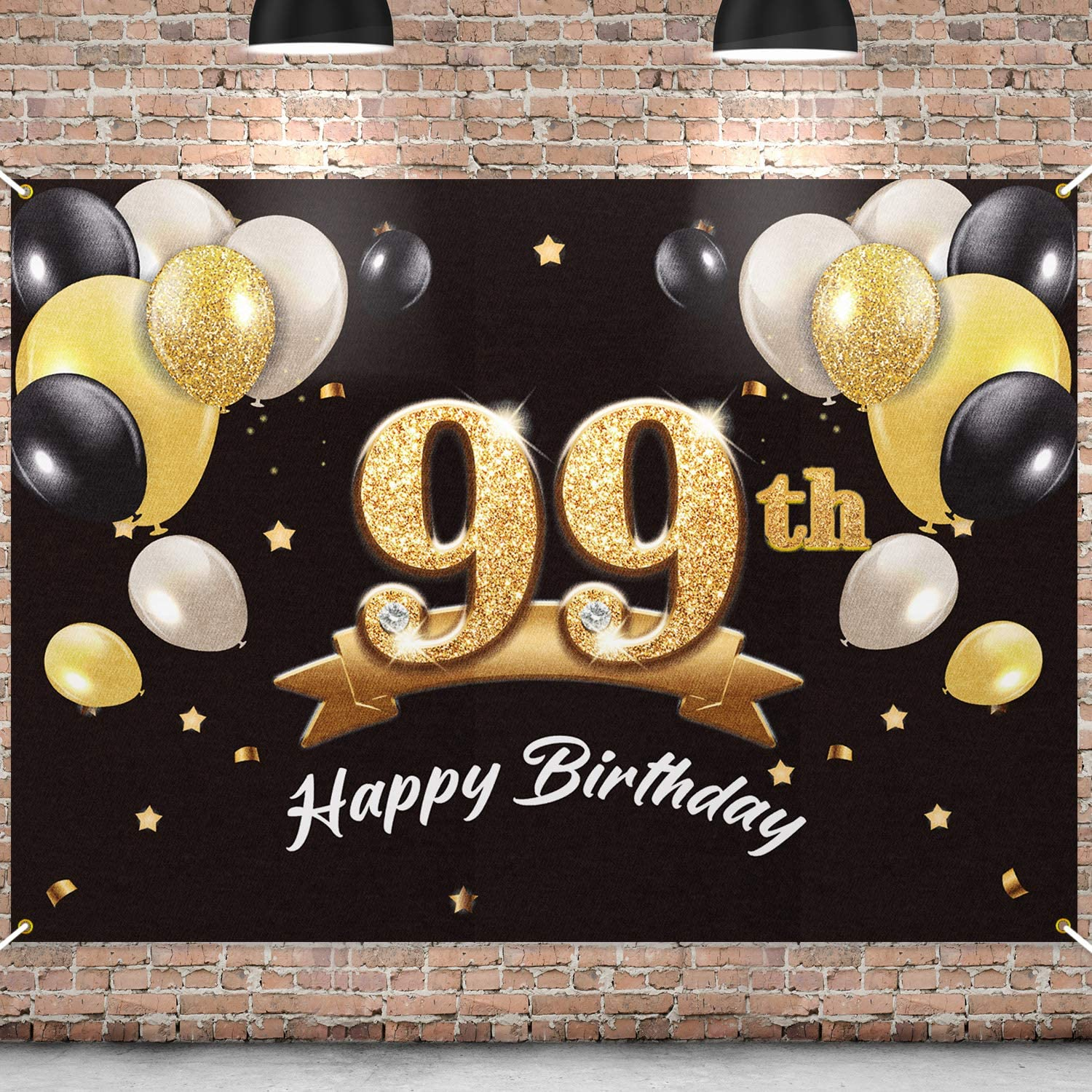 PAKBOOM Happy 99th Max 90% OFF Birthday Banner - excellence Party Backdrop 99