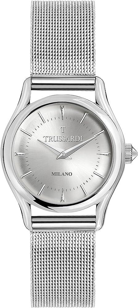 trussardi, orologio da donna,in acciaio inossidabile r2453127505