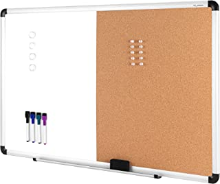 """$37 » Sponsored Ad - VUSIGN Combination Magnetic Whiteboard & Corkboard, 24"""" x 36"""", Wall Mounted Notice Bulletin Board Dry Erase..."""