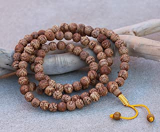 Tibetan Buddhist MEDITATION 108 Beads Genuine BODHISEED MALA For Compassion