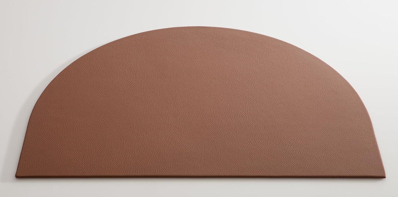 C. Matthey Schreibunterlage aus feinem italienischen Rindleder 50 x 70 cm, 0,5 cm dick, halbrund, Farbe  haselnuss - Handmade in Germany B01M8P24VX   | Rich-pünktliche Lieferung