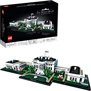 LEGO Architecture The White House 21054 advanced building set, Toy for Kids 10+ and Adults, collectible model (1483 pieces)