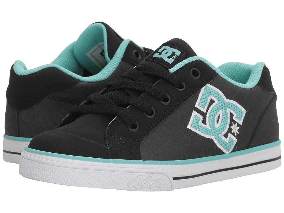 DC Kids Chelsea SE (Little Kid/Big Kid) (Black/Aqua) Girls Shoes