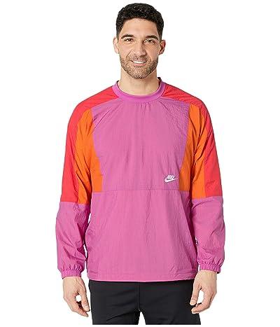Nike NSW Jacket Woven Crew Color Block (Active Fuchsia/Magma Orange/White) Men