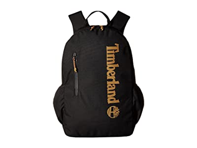 Timberland Linear Logo 28L Backpack (Black/Wheat Logo) Backpack Bags