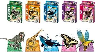 3d learning card safari