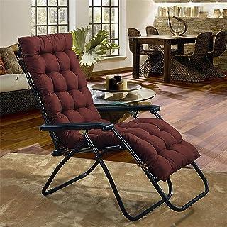 Lanxing Reclinador removible reclinador de reclinador de Silla Mecedora del cojín Patio al Aire Libre Cojín de Asiento de Sol Grueso (Color : Chocolate, 规格 : 40x120)