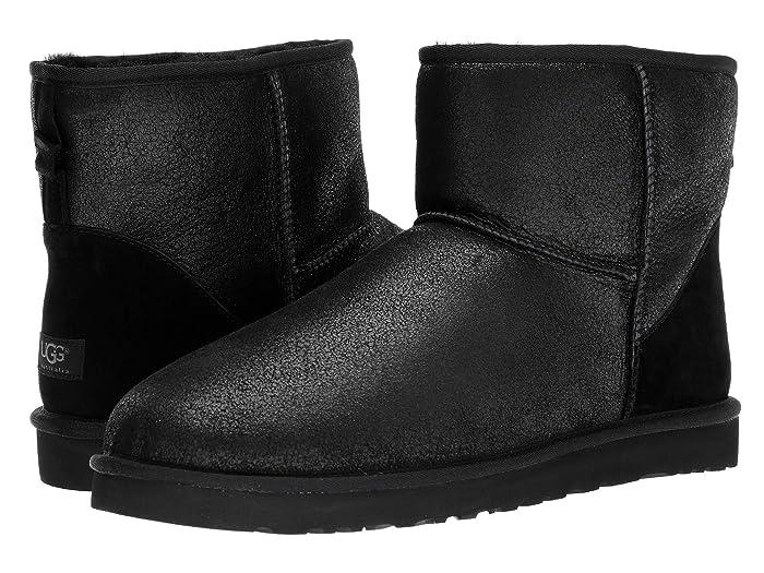 UGG  Classic Mini Bomber (Bomber Jacket Black) Mens Pull-on Boots
