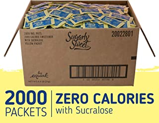 SUGARLY SWEET Zero Calorie Sweetener Packets with Sucralose, Sugar Substitute, Sugar Alternative, Yellow Sweetener Packets, 2,000 Packets