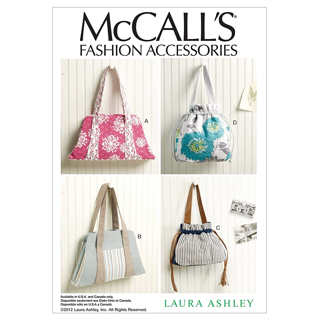 McCall Patterns M6522 Bags, One Size
