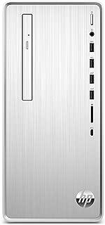 HP Pavilion Desktop Computer, Intel Core i3-9100, 8GB RAM, 1TB Hard Drive, 256 GB SSD, Windows 10 (TP01-0030, Silver)
