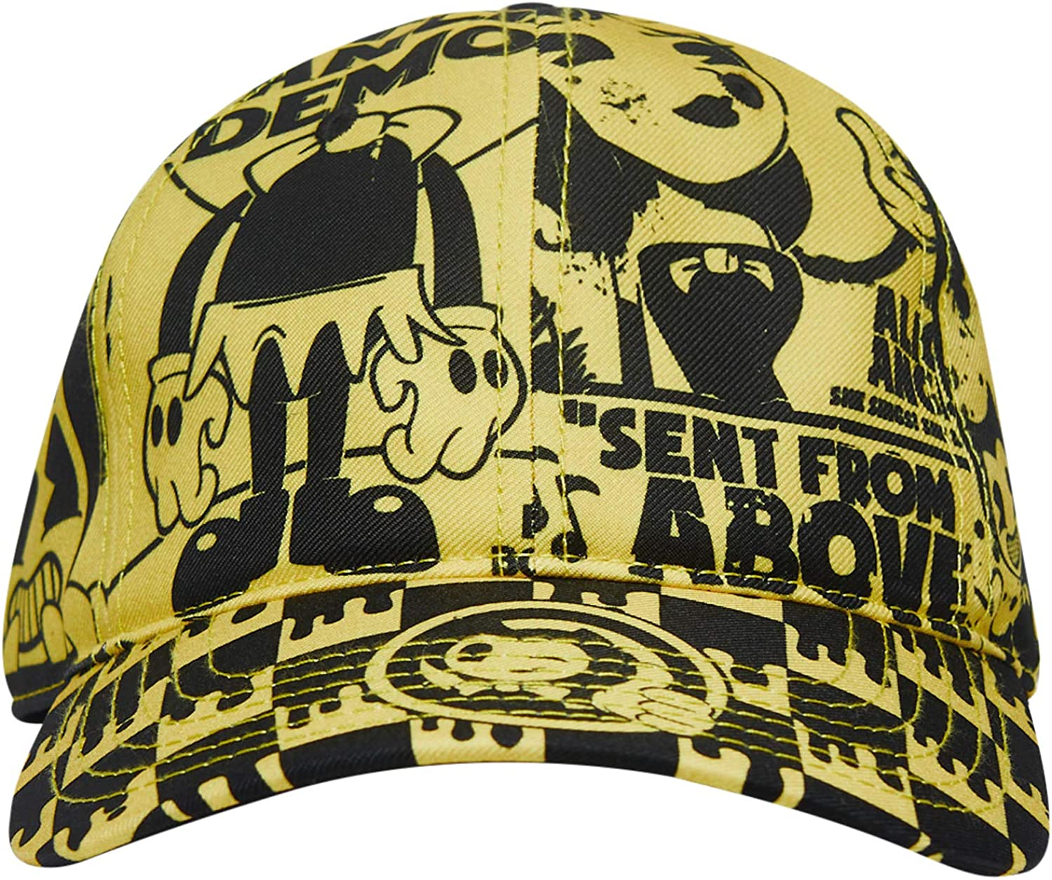 Bendy and the Ink Machine Hat - Black and White Bendy Hat - Bendy Snapback Hats (Bendy Collage)