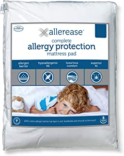 Aller-Ease AllerEase Complete Allergy Protection Mattress Pad, King, White