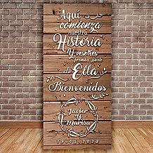 Amazon.es: carteles boda personalizados