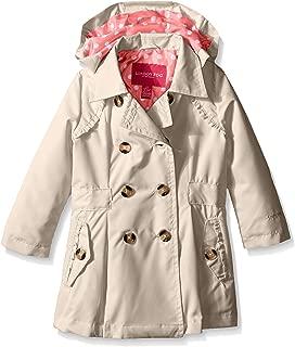 London Fog Girls' Little Lightweight Trench Dress Coat Jacket, Khaki, 6X