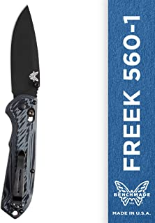 Benchmade - Freek 560-1, EDC Folding Knife, Drop-Point Blade, Manual Open, Axis Locking Mechanism, Made in USA