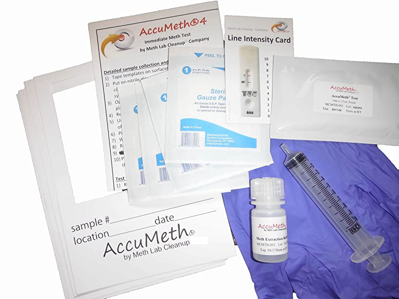 AccuMeth4 - Instant Meth Residue Test for Homes - Sample 4 Areas, Get 1 Result (0.1 ug/100cm2 legal standard) (1)