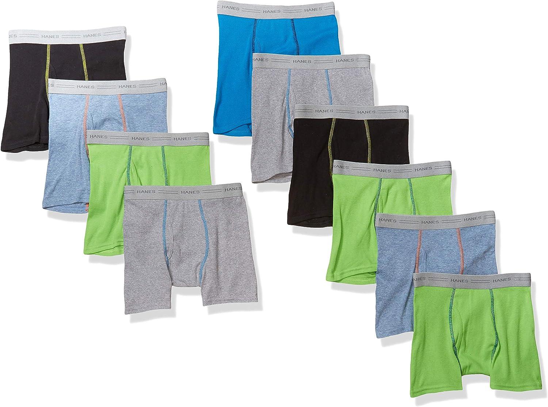 Hanes Boys' Tagless Assorted Color Boxer Brief