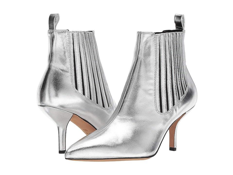 Diane von Furstenberg Mollo-5 (Silver Metallic Leather) Women