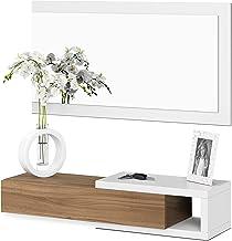 Habitdesign 0N6743A - Recibidor con cajón + Espejo, Medidas