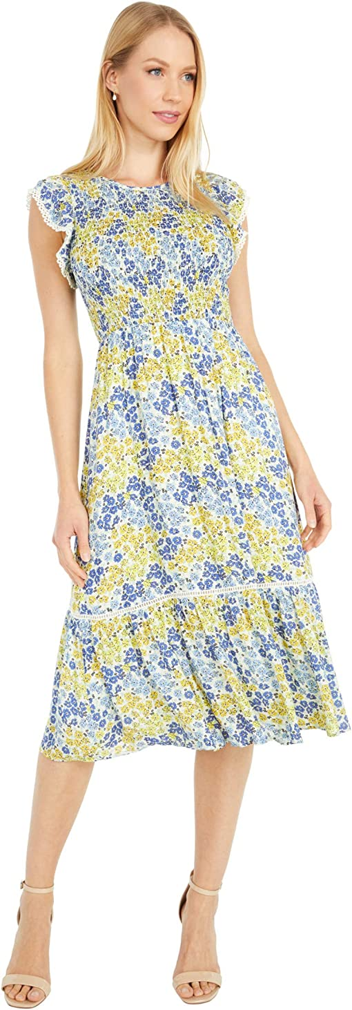 Blue/Yellow Floral